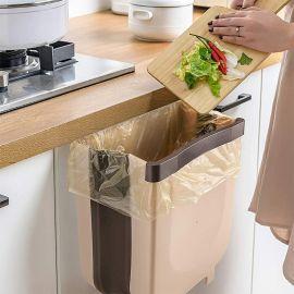 Kitchen Garbage Bin Foldable shelf mounted