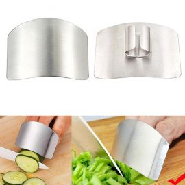 Hand Guard Finger Protector, Finger Guard For Cutting, Unbreakable Stainless Steel Safe Slice Knife Guard Slicing Cutting Protector