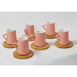 Turkish Espresso Coffee Cups Set, Ceramic Espresso Cup Set. Tea Cups and Saucers Set, Demitasse Coffee Cups, 6 pieces coffee cups set