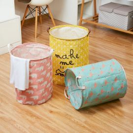 Foldable Round Laundry Basket Large Capacity